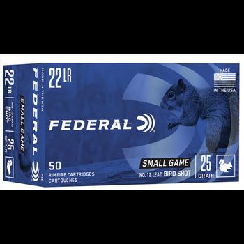 Federal 716 Game-Shok Rimfire Rifle Ammo 22 LR, #12 Lead Bird Shot, 25
