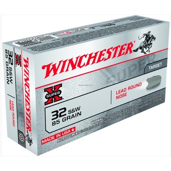 Winchester X32SWP Super-X Pistol Ammo 32 S&W, LRN, 85 Gr, 680 fps, 50 Rnd, Boxed