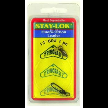 """Stringease Stay-Lok Fluorocarbon Leader 12"""" 50lb 2-pk"""