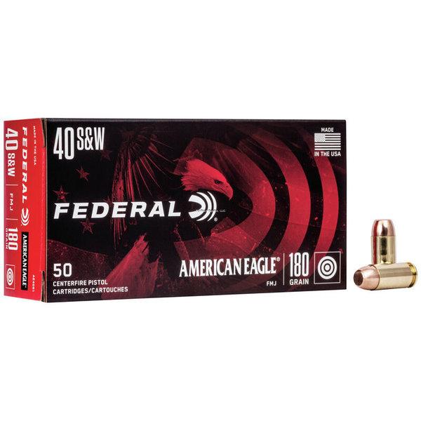 Federal American Eagle 40S&W 180 gr FMJ Ammunition