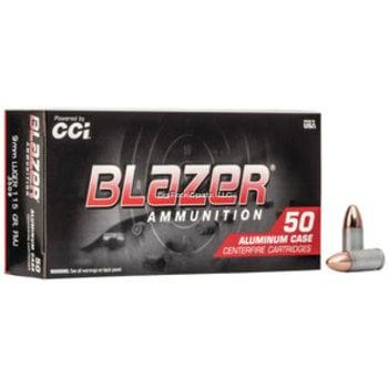 CCI CCI Blazer Ammo 9mm Luger 115gr Full Metal Jacket 50 Rounds