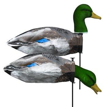 Tanglefree 3D Slammer Sock Drake Mallard // 12 Pack // 8 Feeders & 4 Uprights