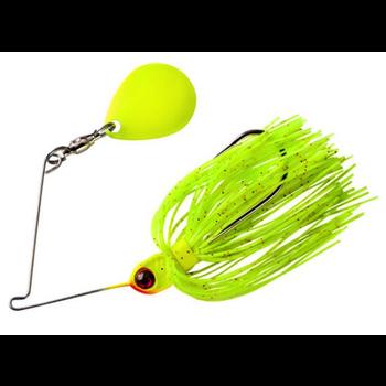 Booyah Micro Pond Magic 1/8oz Spinnerbait. Lightning Bug