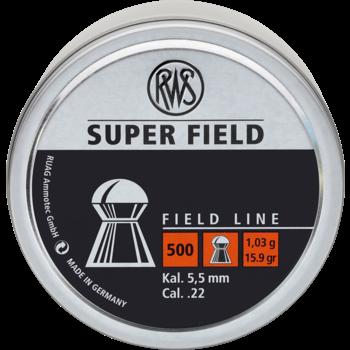 RWS RWS SUPER FIELD .22 5.51mm PELLETS 15.9gr Air Rifle Gun Airgun 500 Tin