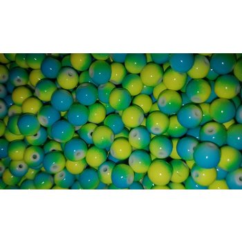 Creek Candy Beads 10mm Blueberry Lime #103