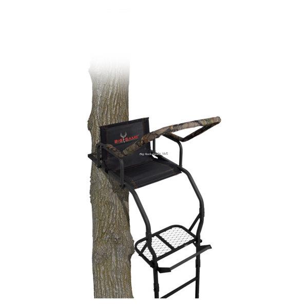 Big Game Big Game LS3811 Warrior DXT Ladderstand, 17' Ladderstand, Flex-Tek Seat, Padded Shooting Rail & Armrests, Footrest