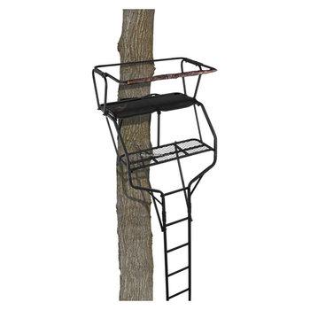 Big Game Big Game LS4860 Gaurdian XLT Ladderstand, 18' Two-Person Ladderstand, Flex-Tek Seat