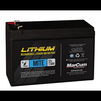 MarCum Lithium 12V 7.5Ah Mite Battery. LI-Ion