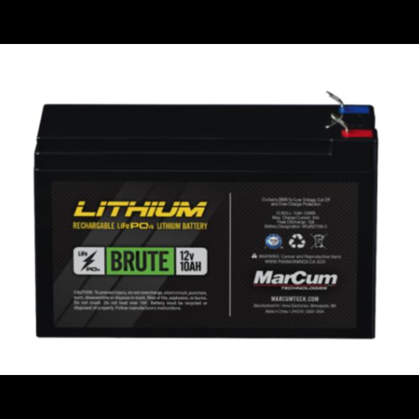 MarCum Lithium 12V 10Ah Brute Battery. Life PO4