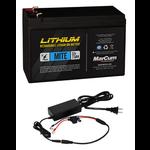 MarCum Lithium 12V 7.5Ah Mite Battery Kit. LI-Ion