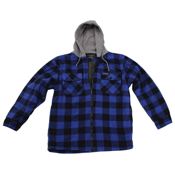 Backwoods Sherpa Lumberjack Jacket Blue