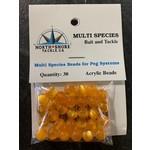 North Shore Tackle Acrylic Beads 8mm Orange Yolk