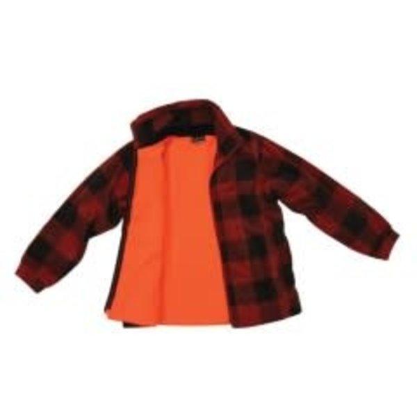 Backwoods Kid's Lumberjack Jacket, Blaze Orange, XL
