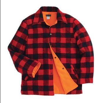 Backwoods Lumberjack Reversible Hunting Jacket, Red/Black Check, M
