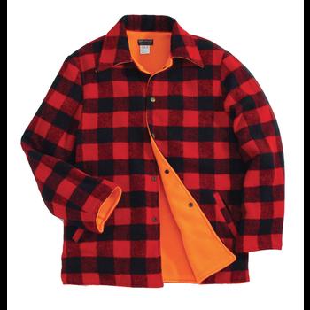 Backwoods Lumberjack Reversible Hunting Jacket, Red/Black Check, L