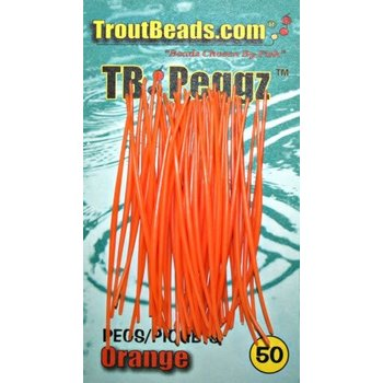 Troutbeads Peggz Orange 50-pk