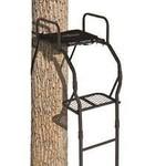 Big Game LS0100 The Warrior Pro Treestand, 16' Basic Ladderstand, Padded Seat And Armrest
