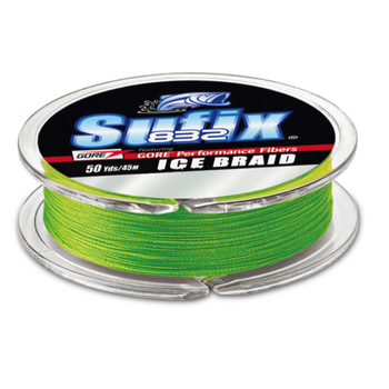Sufix 832 Ice Braid. 4lb 50yds Neon Lime