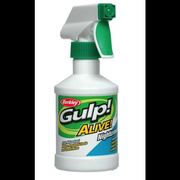 Gulp Alive Nightcrawler Attractant Spray 8oz Bottle.