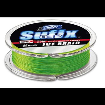 Sufix 832 Ice Braid. 10lb 50yds Neon Lime
