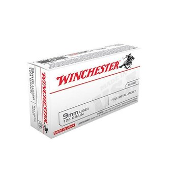 Winchester 9mm Target 124gr FMJ Ammunition