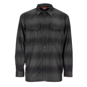 Simms ColdWeather LS Shirt, Black Slate Plaid, L