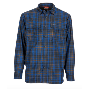 Simms Coldwater, Rich Blue Admiral Plaid, Large