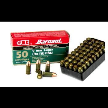 Barnaul 9mm Ammo 115gr Full Metal Jacket 50 Rounds