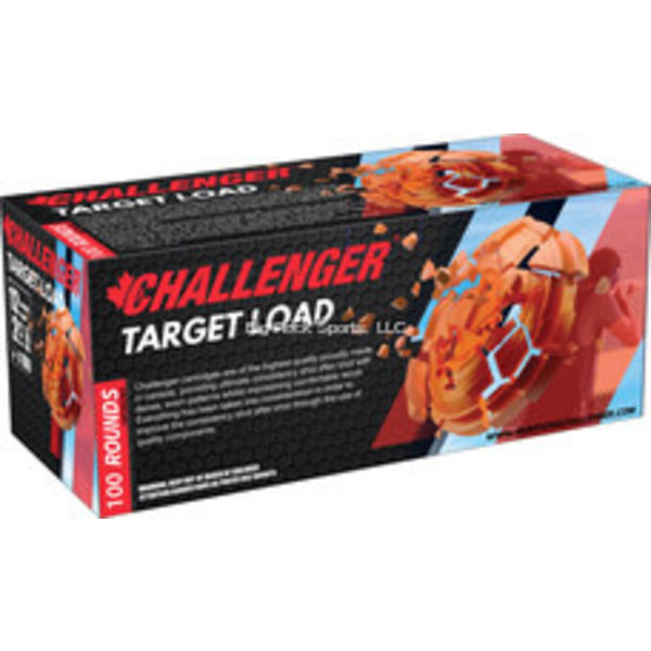 Challenger Ammo 43027 Target Load 100 Round Pack, 12 GA, 2-3/4 in, No. 7.5, 3 Dram, 1-1/8 oz, 1200 Fps