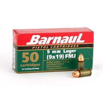 Barnaul Barnaul 9mm Ammo 115gr Full Metal Jacket 500 Rounds