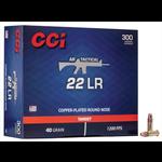 CCI AR Tactical 22 LR 40gr Copper Plated RN 1200 fps Ammuniiton