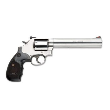 """Smith & Wesson Smith & Wesson 686 3-5-7 Magnum Series, Talo Edition Revolver, .357 Magnum, 7"""" Barrel, 7 Round, Adjustable Sights, Custom Wood Grips, Stainless Finish"""