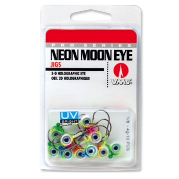 VMC Neon Moon Eye Jig UV Kit 3/8oz Assorted 10-pk