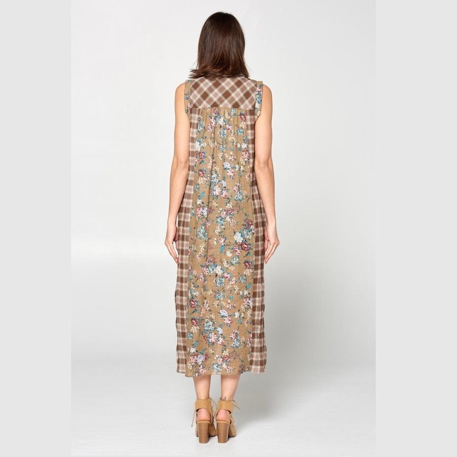1115 PLAID MAXI DRESS