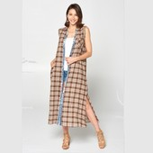 1115 PLAID MAXI DRESS
