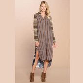 1211 COLLARED MAXI SHIRT DRESS