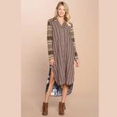 1211 COLLARED MAXI SHIRT DRESS