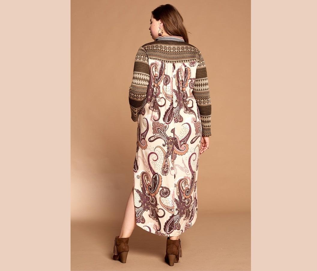 1210 STRIPED COLLARED SHIRT DRESS