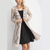 1124 MILITARY BUTTON LACE DUSTER