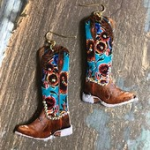 5640 LEATHER BOOT EARRINGS