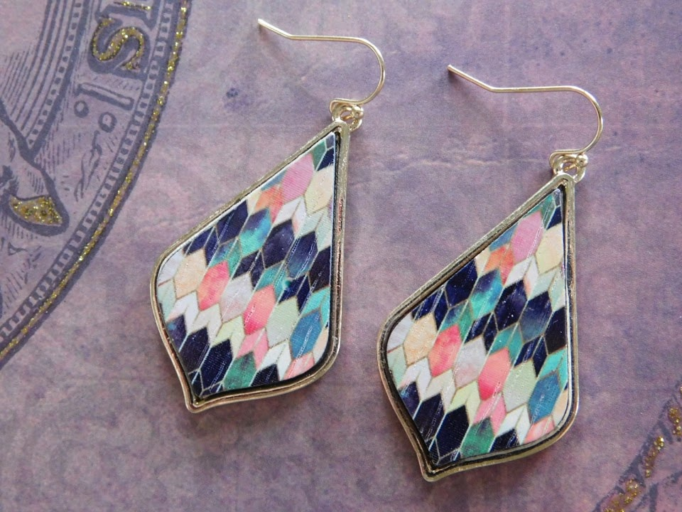 5287 GOLD/MULTICOLORED EARRINGS