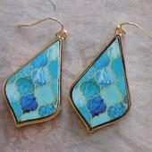 5290 GOLD/BLUE EARRINGS