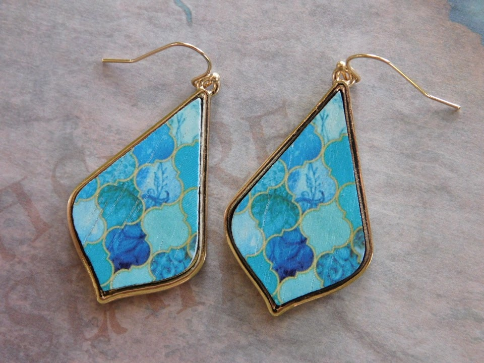 5290 GOLD/BLUE EARRINGS
