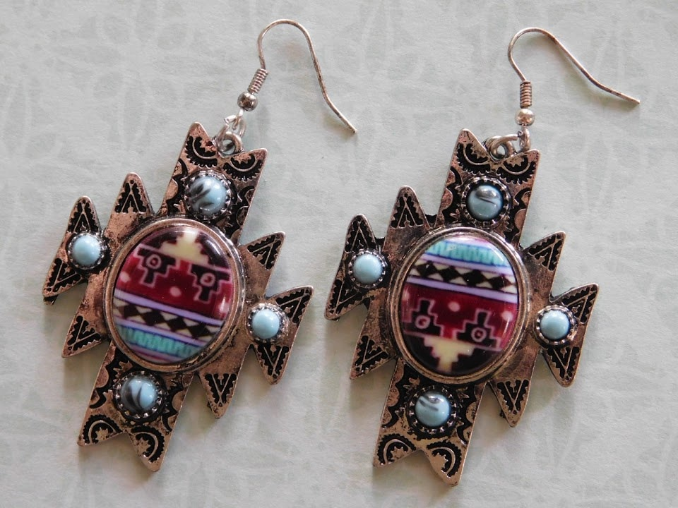 5291 SOUTHWESTERN/TURQUOISE EARRINGS