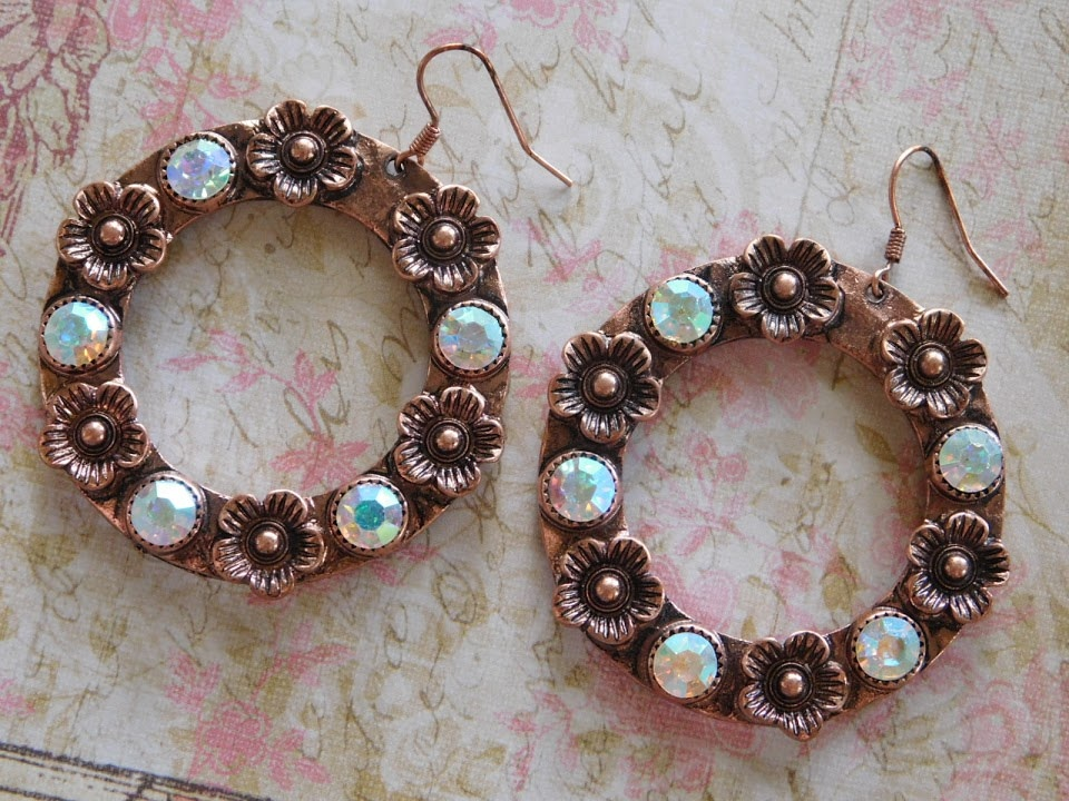 5292 COPPER WREATH EARRINGS