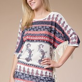 1306 ROUND NECK TOP WINGED DOLMAN ELBOW LENGTH
