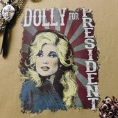 1312 DOLLY PARTON FOR PRESIDENT VINTAGE TEE