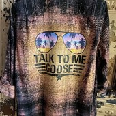 1999 TALK TO ME GOOSE DISTRESSED FLANNEL
