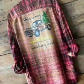 1998 THIS IS MY HALLMARK CHRISTMAS MOVIES WATCHING SHIRT DISTRESSED FLANNEL