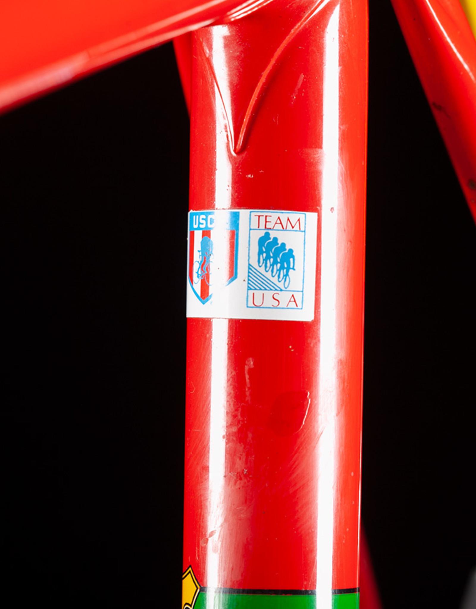 Vintage Red Tommasini Steel Road Bike Size 60cm, circa 1985 Nice and Original!